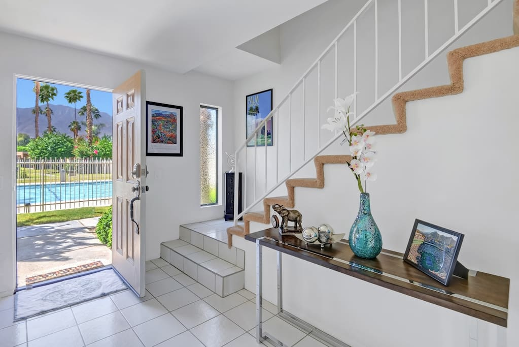 Just outside your front door, your condo affords stunning views of the San Jacinto Mountains.