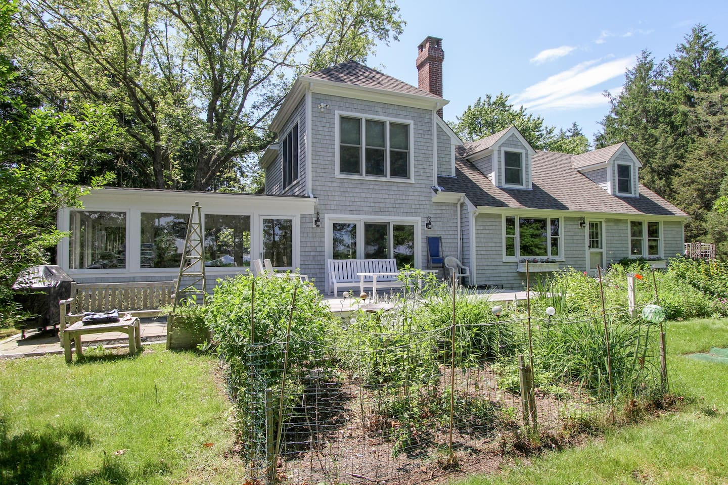 Welcome to East Falmouth! Your rental is professionally managed by TurnKey Vacation Rentals. Enjoy the great outdoors and enjoy the fresh garden.