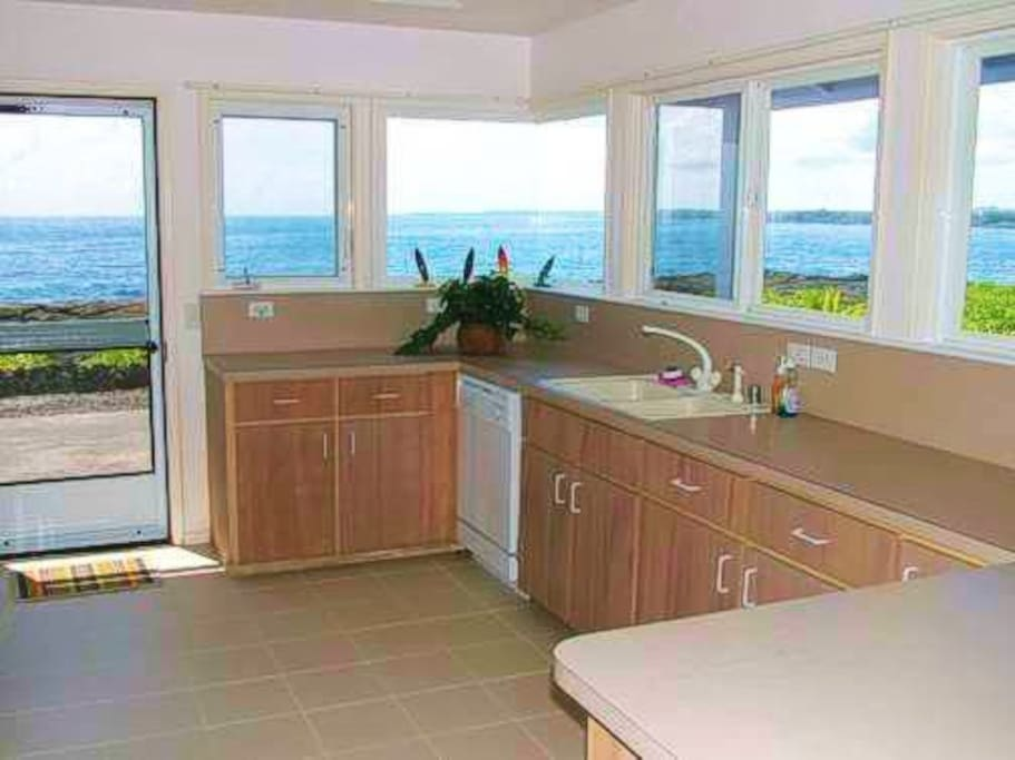 Panoramic ocean view from the kitchen!