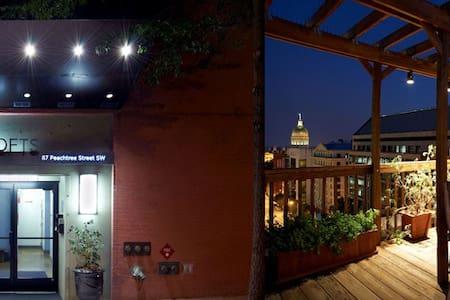 Downtown Atlanta Cozy Contemporary Loft With Views - Atlanta - Condominium