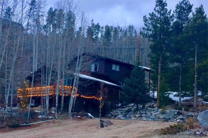 Gorgeous Log home, Mountain Views, in town / trees