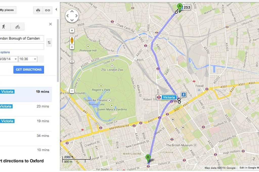 Popular Camden market is a 5 minute walk away! This map shows how easy it is to get to Oxford Circus!