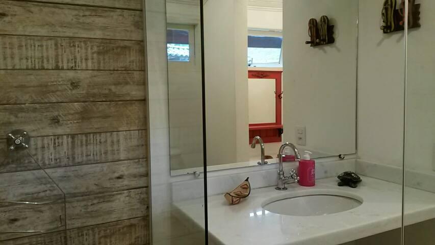 Banheiros confortáveis