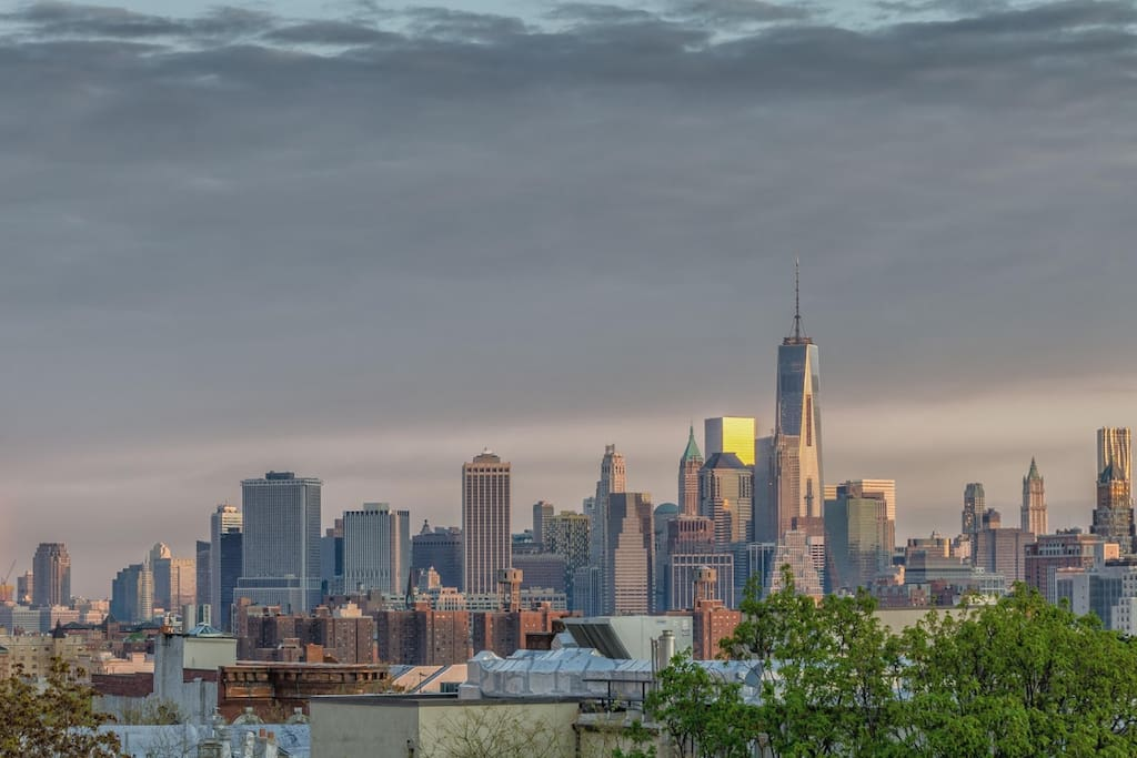 Skyline view from Park Slope