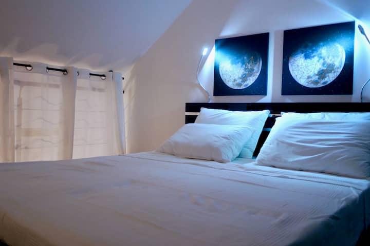 Duplex cosy et calme tout confort