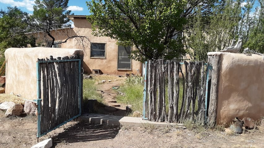 Straw bale home next to Gila Ntl Forest