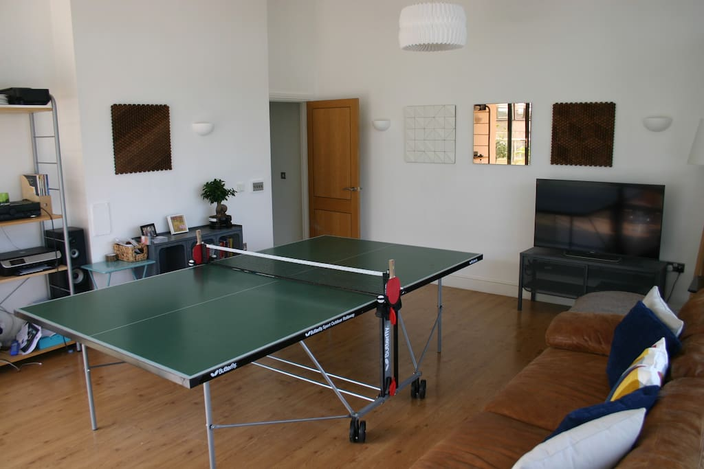 And also turns into a games room...