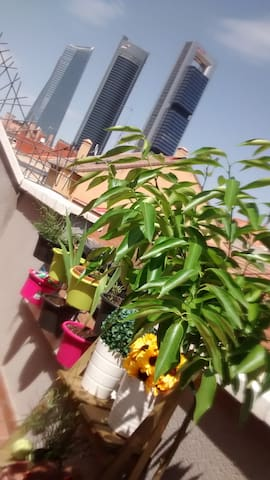 Terraza privadav con vistas a las 4 torres