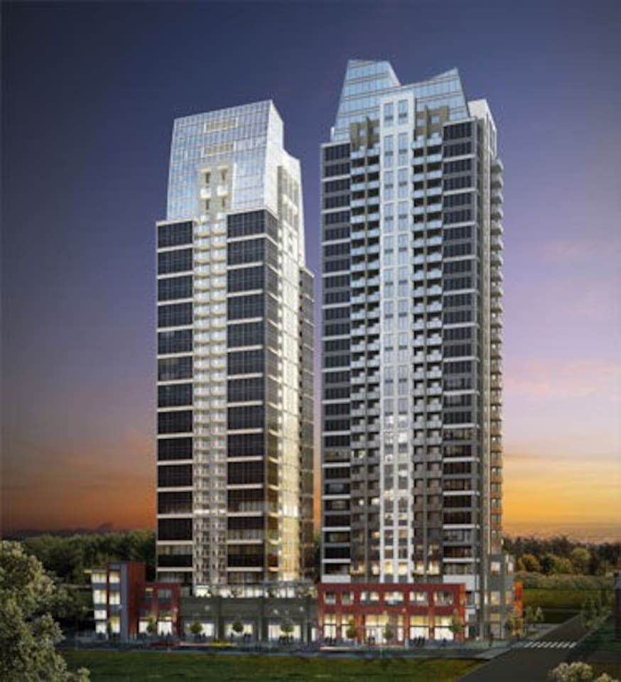 The building is located belt line the unit has a balcony with patio table for two BBQ and incredible view of the city