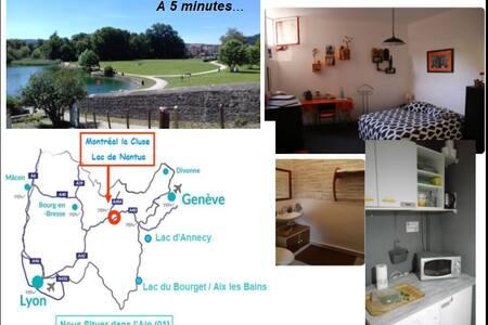 Chambre dans maison avec salle d'eau privative
