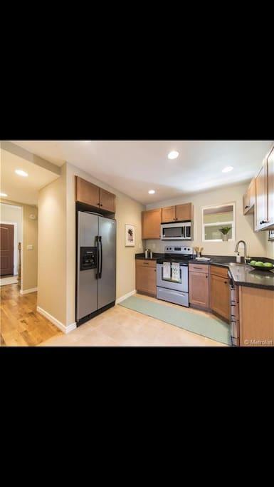 Fully stocked kitchen