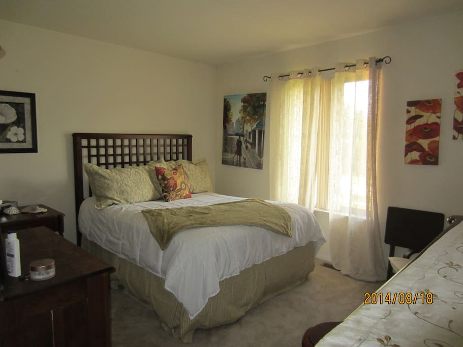 Master Bedroom. Queen Bed with private full bath.