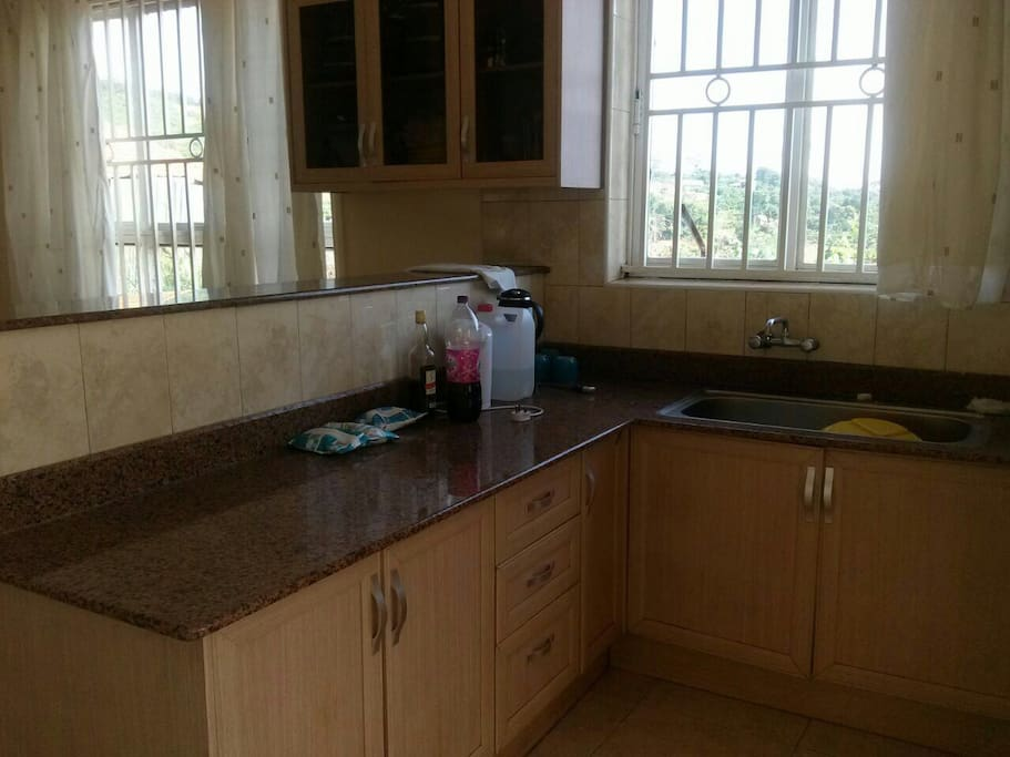 morden kitchen with granite working table