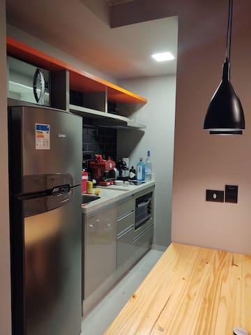 Apartamento Studio decorado com conforto