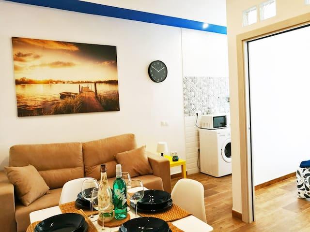 Living room, Bedroom & Kitchen