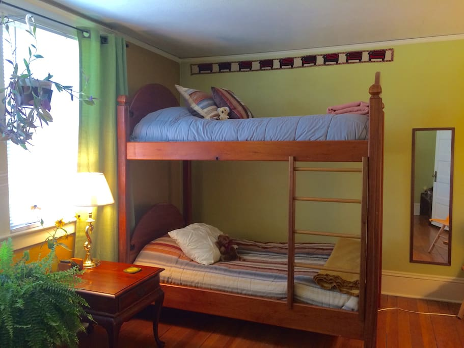 Large Cherry Bunk Beds     Comfortable for Youth or Adults