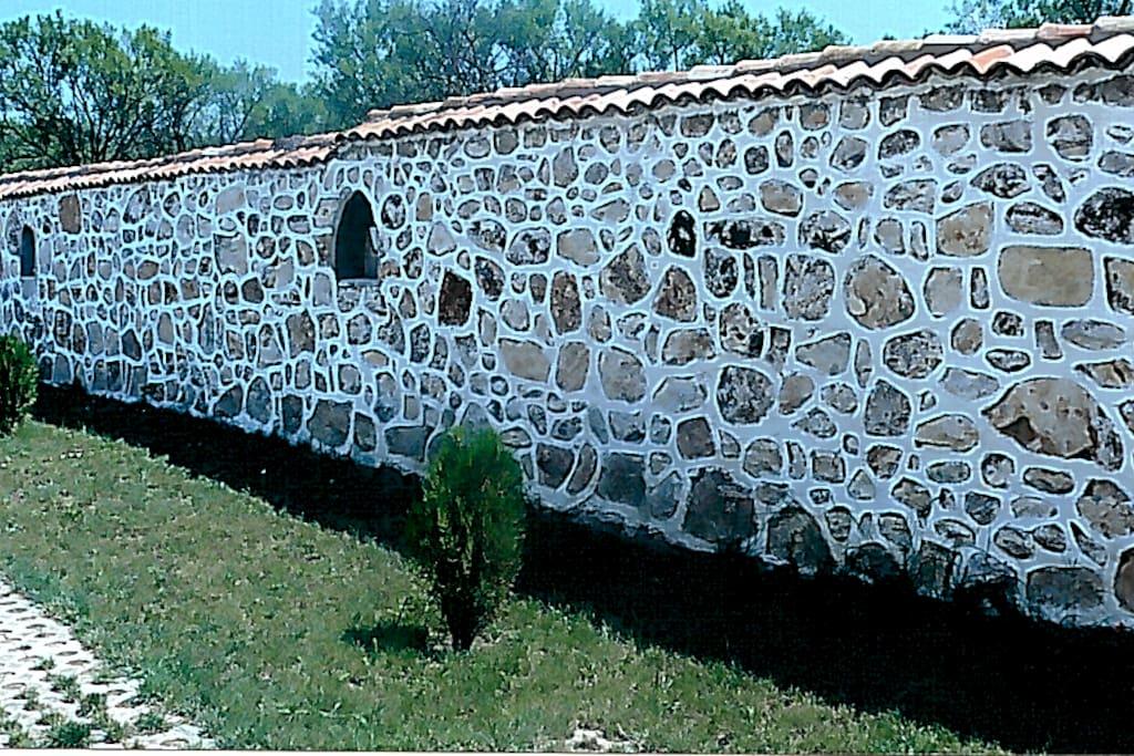 Забор в болгарском стиле с подсветкой