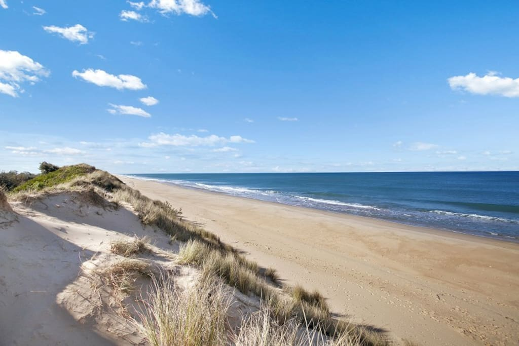 Deserted beaches - 4th longest in world. On reserve. Large peaceful quiet location.