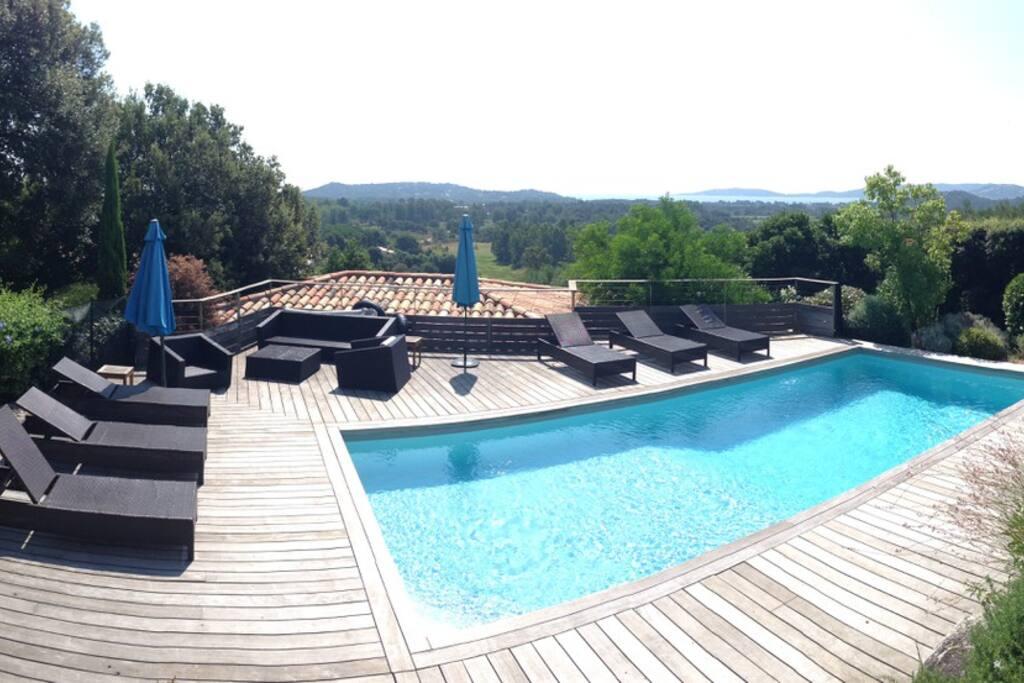Vue panoramique piscine
