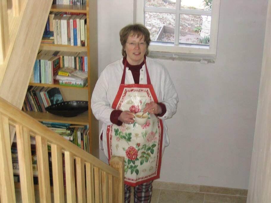 Uw gastvrouw. biologische keuken