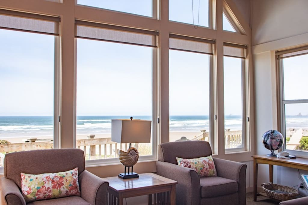 The ocean views fill the windows
