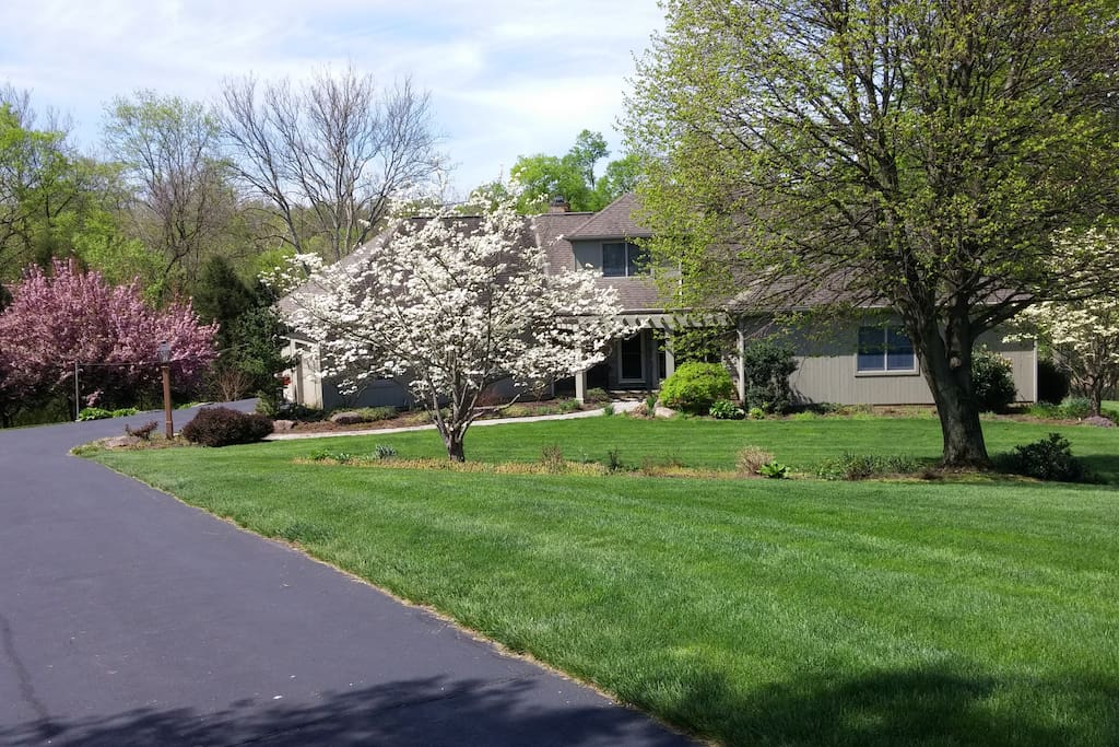 Private driveway leading to house,ample parking