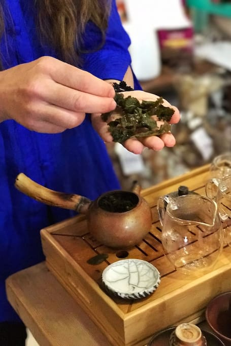 Examining the quality of  tea leaves