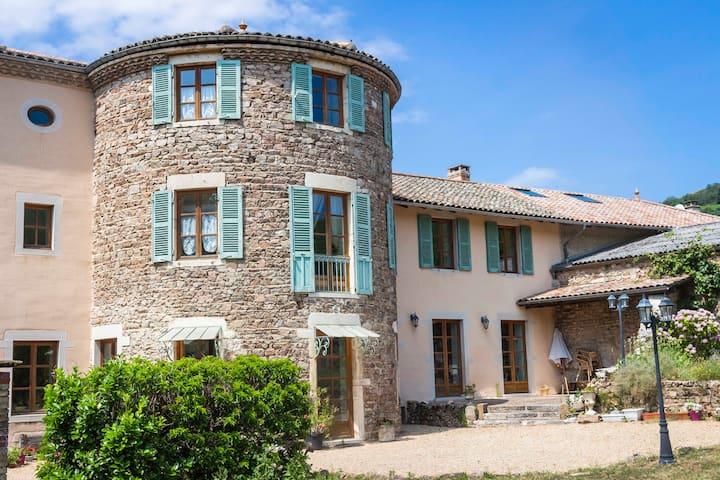 """Chambre """"Le Colombier""""en Maison d'hôtes beaujolais"""