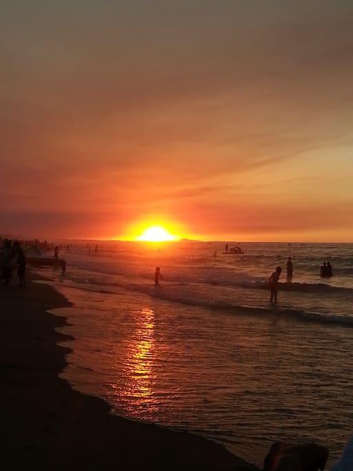 tres belle plage de sable fin