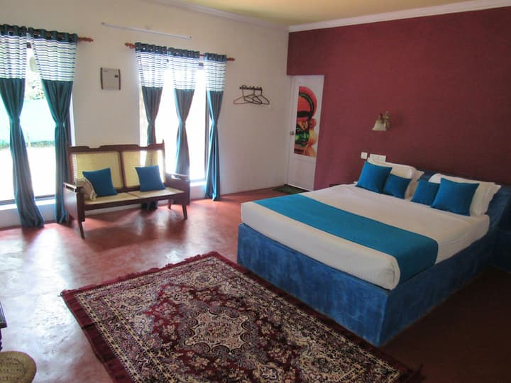Luxury villa with king bed and open shower