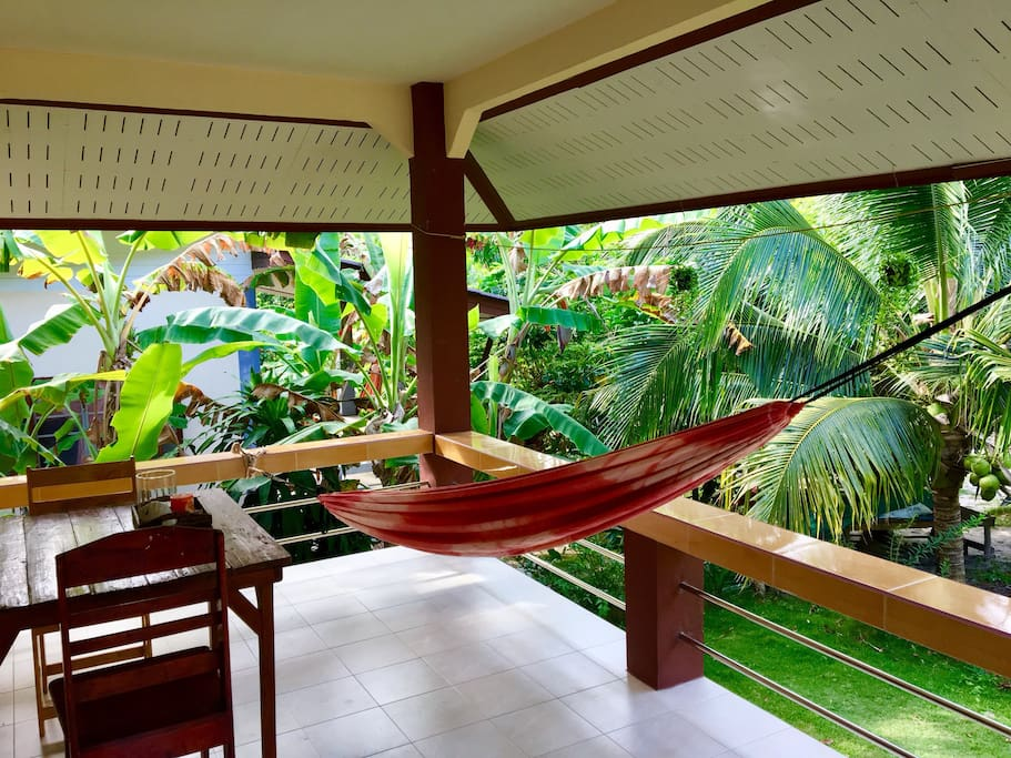 A hammock for a power-nap or reading a good book.