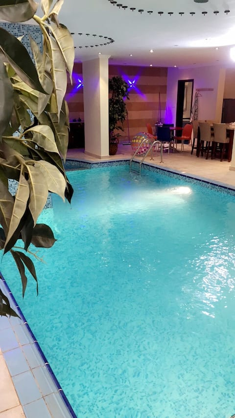 Luxury 3 room apartment with private indoor pool