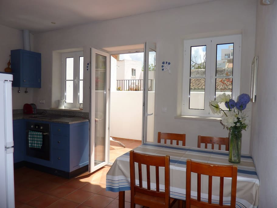Kitchen with sunny balcony