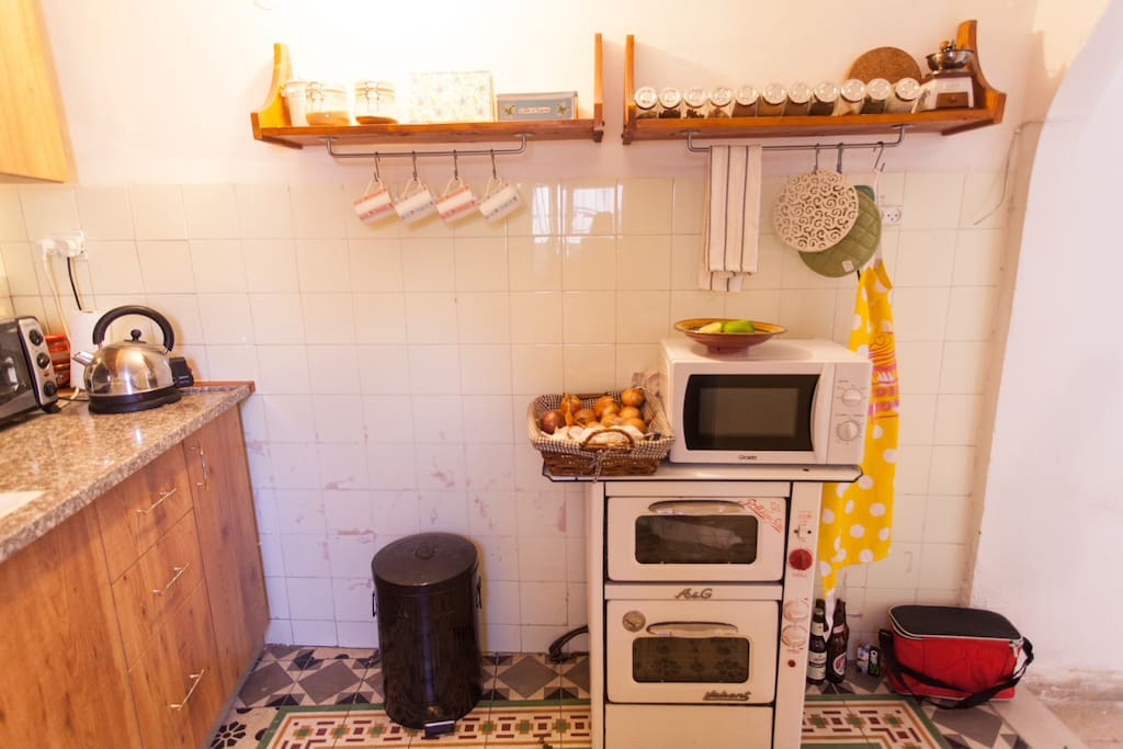Fully equipped kitchen ready for cooking!
