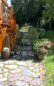Environnement paisible au coeur d'un jardin.