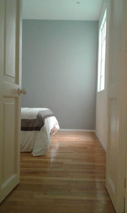 Entering the bedroom