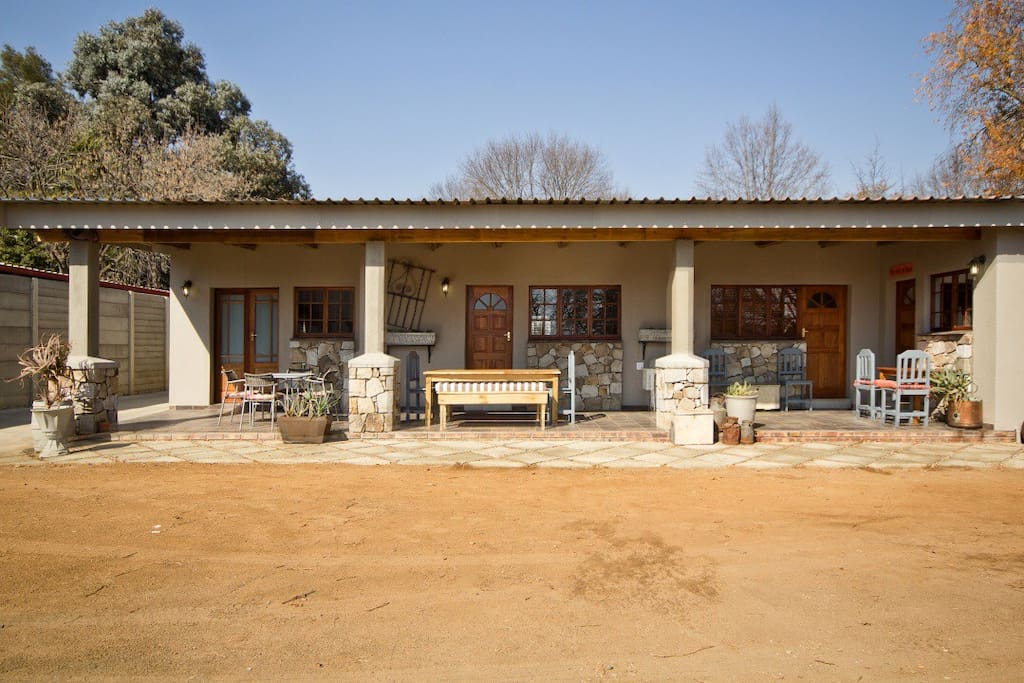 Sunny verandah. Weber available for braai. TV with DSTV available in all rooms.
