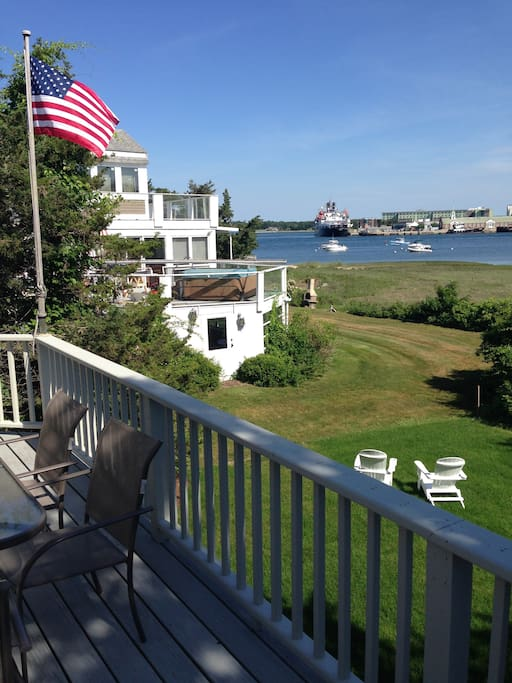 View of the Cape Cod Canal from the deck