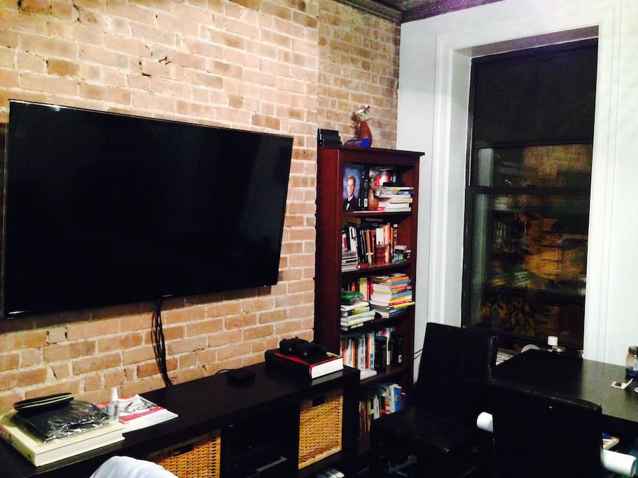 Exposed-brick Living Room