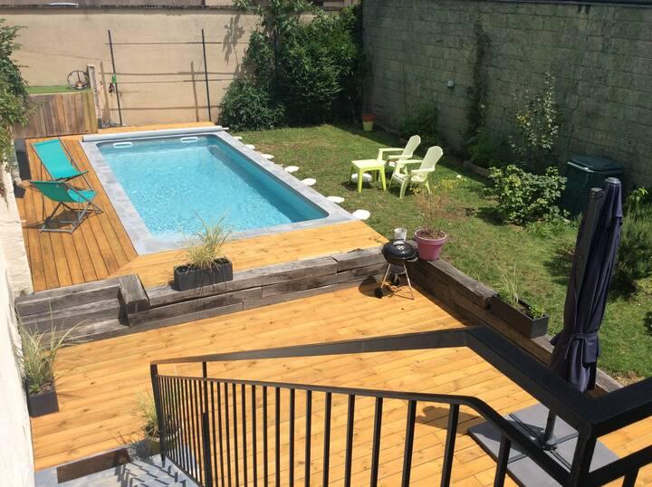 Appartement rénové centre ville de BRIVE + piscine