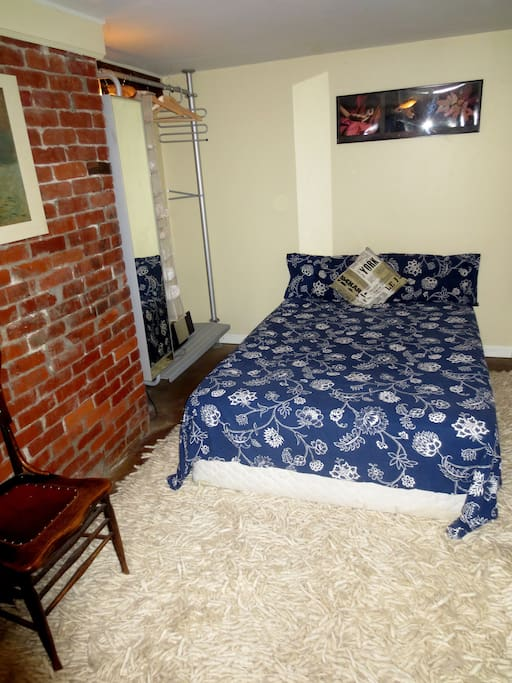 Comfortable firm double bed