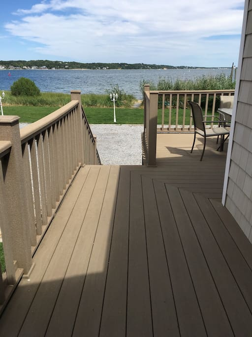 Deck overlooking the water