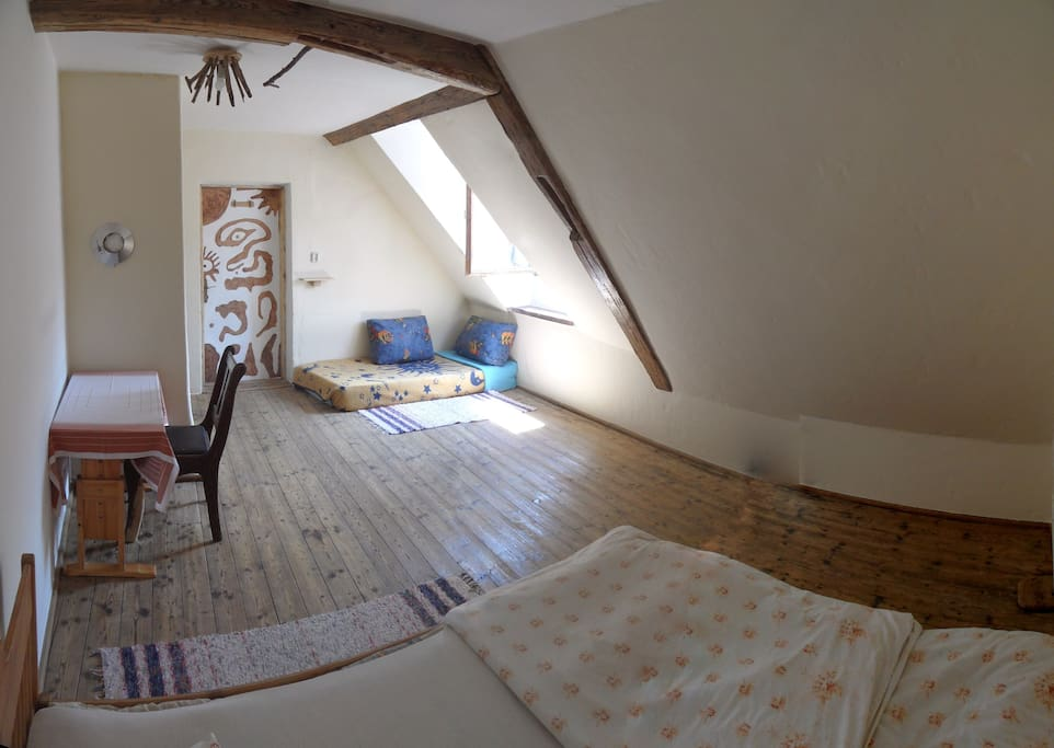 Private attic room for 2 or 4 people