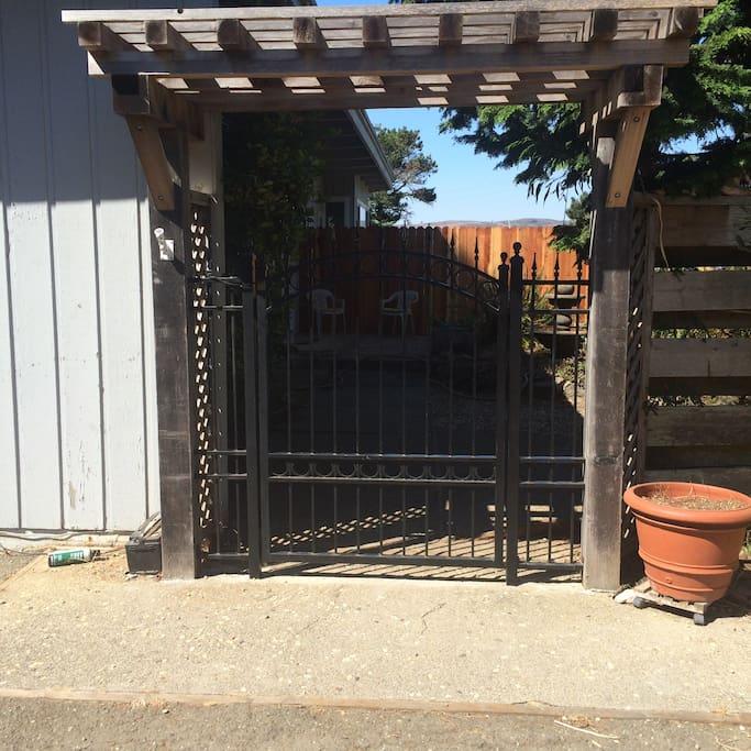 Enter your private garden through the English Garden Gate