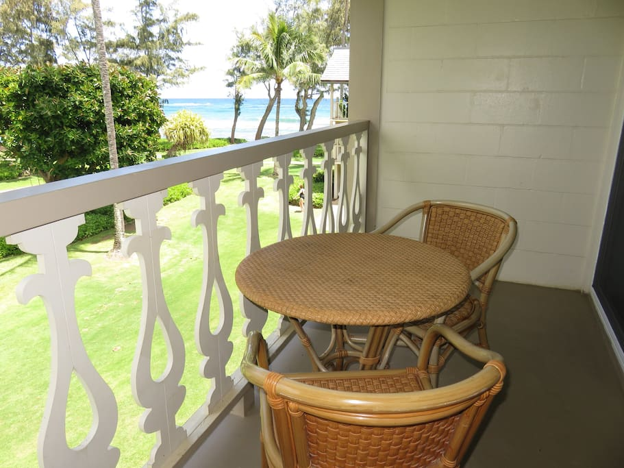 View from lanai - all weather furniture looking right.