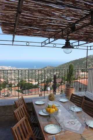 Maison Corse/ Vue MER/ Piscine - Santa-Reparata-di-Balagna - Casa