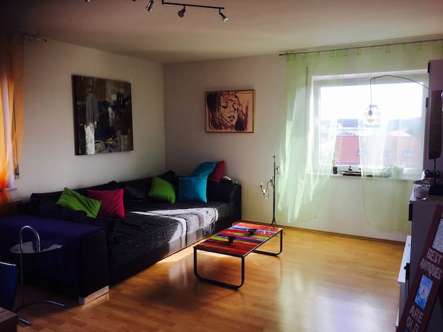 Huge and artsy 26-qm2-room with an awesome view - Griesheim - Apartment