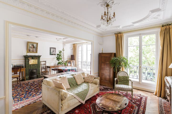 Double séjour, coté salon avec canapé-lit / Living room with sofa bed