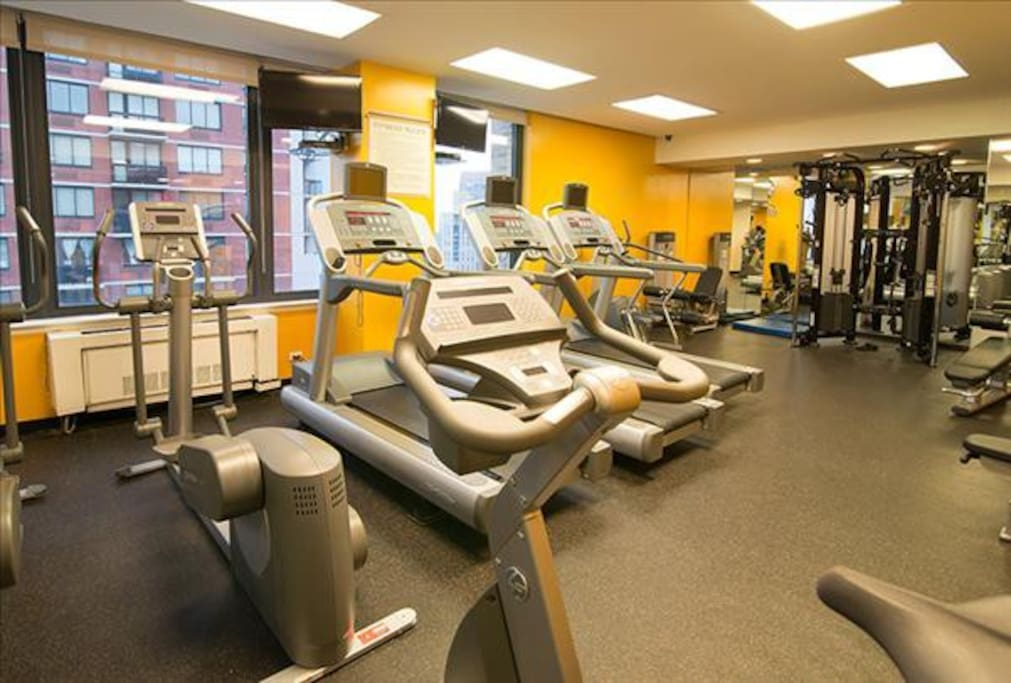 Gym Facility within the Building on the 35th Floor