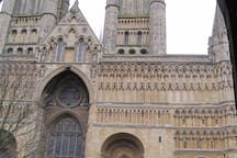 Lincoln cathedral in the Bailgate quarter - a 40 minute drive away.